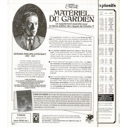 Matériel du Gardien (jdr L'Appel de Cthulhu 5e édition en VF) 009