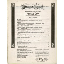 Dragonlance - DL2 Dragons of Flame (jdr AD&D 1ère édition en VO)