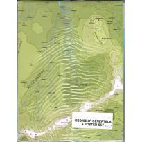 Lot de 6 posters Maps de Genertela (jdr Runequest-Glorantha en VO)