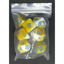 Set de 7 dés bicolores de jeux de rôles (accessoire de jdr)