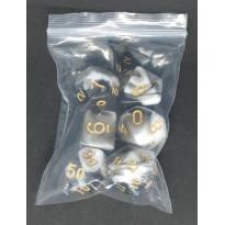Set de 7 dés bicolores de jeux de rôles (accessoire de jdr) 005D