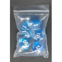Set de 6 dés transparents de jeux de rôles (accessoire de jdr)