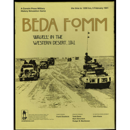 Beda Fomm - Wavell in the Western Desert, 1941 (wargame Consimpress en VO) 002