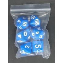 Set de 7 dés opaques de jeux de rôles (accessoire de jdr)