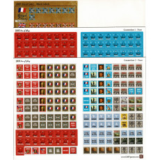 Sea of Glory 1805 - Planches de pions & stickers (wargame de GMT en VO)