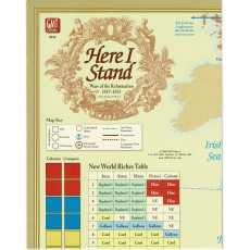 Here I Stand - Carte en papier (wargame de GMT en VO)
