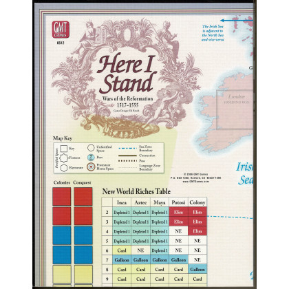 Here I Stand - Carte deluxe en carton rigide (wargame de GMT en VO) 001