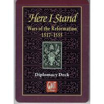 Here I Stand - Paquet de cartes de diplomatie (wargame de GMT en VO)