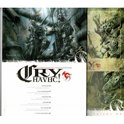 Cry Havoc Volume 03 & Aides de jeu (magazines Jeux de figurines Rackham en VF) 001