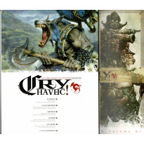 Cry Havoc Volume 01 & Aides de jeu (magazines Jeux de figurines Rackham en VF) 001