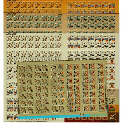 Afrika Korps - Planches de pions (wargame Panzer Grenadier d'Avalanche Press en VO) 001