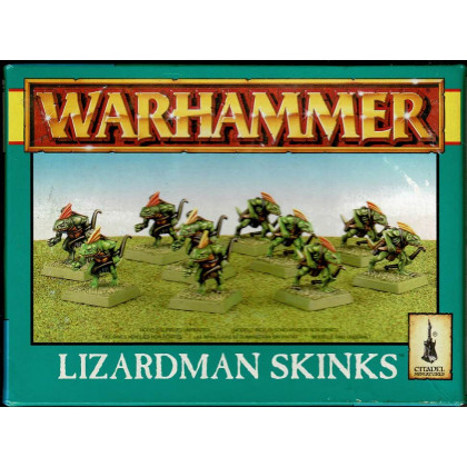 Lizardman Skinks (boîte de figurines Warhammer de Games Workshop en VO) 001