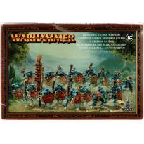 Guerriers Saurus Hommes-Lézards (boîte figurines Warhammer en VF) 001