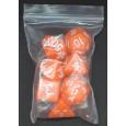 Set de 7 dés opaques orange de jeux de rôles (accessoire de jdr) 007CC