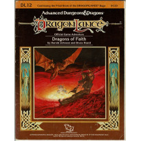 Dragonlance - DL12 Dragons of Faith (jdr AD&D 1ère édition en VO)