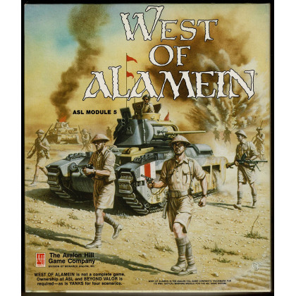 West of Alamein - ASL Module 5 (wargame Advanced Squad Leader d'Avalon Hill en VO) 001