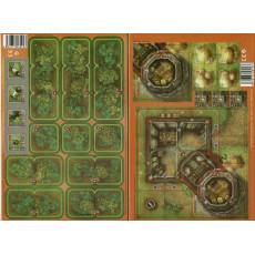 Heroes of Normandie - Lot Ferme fortifiée & Extra Terrain Set 2 (jeu de Devil Pig Games)
