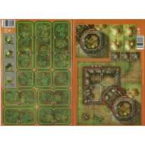 Heroes of Normandie - Lot Ferme fortifiée & Extra Terrain Set 2 (jeu de Devil Pig Games) L136