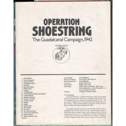 Operation Shoestring - The Guadalcanal Campaign 1942 (wargame ziploc GMT en VO) 003
