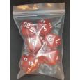 Set de 7 dés opaques rouges de jeux de rôles (accessoire de jdr) 007I
