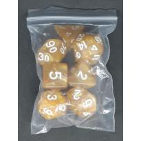 Set de 7 dés irisés de jeux de rôles (accessoire de jdr) 008LL