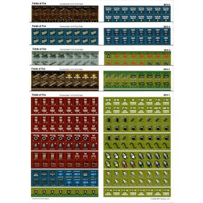 Fields of Fire - 5 planches de pions (wargame de GMT Games en VO) 001