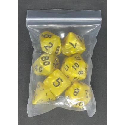 Set de 7 dés irisés de jeux de rôles (accessoire de jdr) 008BB