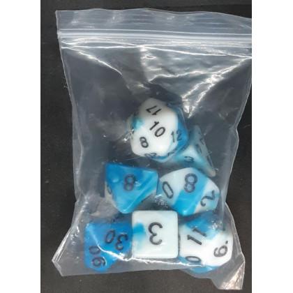 Set de 7 dés bicolores de jeux de rôles (accessoire de jdr) 005F