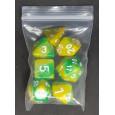 Set de 7 dés bicolores de jeux de rôles (accessoire de jdr) 005C
