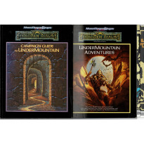 The Ruins of Undermountain - Partie du contenu de la boîte (jdr Forgotten Realms - AD&D 2e édition en VO)