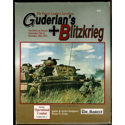 Guderian's Blitzkrieg - The Panzer Leader's Last Drive 1941 (wargame The Gamers en VO) 002