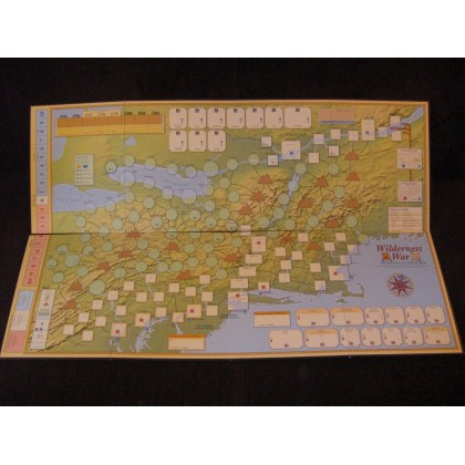 Wilderness War - Carte deluxe (accessoire wargame GMT) 001