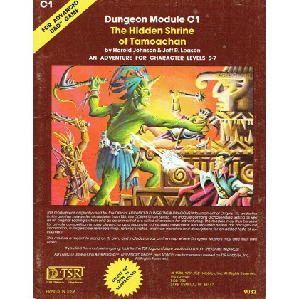 C1 The Hidden Shrine of Tamoachan (jdr AD&D 1ère édition) 001