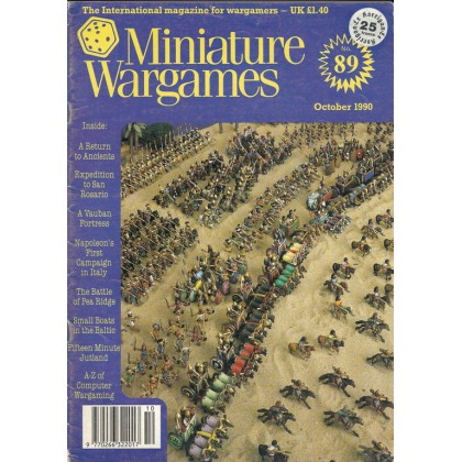 Miniature Wargames N° 89 (The International Magazine for Wargamers) 001