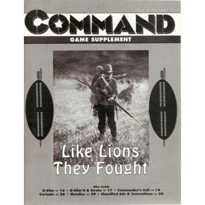 "Command Magazine 28 avec wargame ""Like lions they fought""  001"