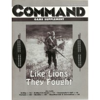 "Command Magazine 28 avec wargame ""Like lions they fought 1879"" (magazine wargames en VO)"