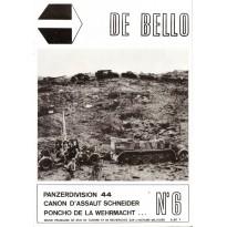 De Bello N° 6 (Revue française de jeux de guerre et d'histoire militaire) 001