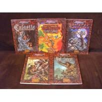 Lot de 5 livres Terres Balafrées (jdr Sword & Sorcery en VF)