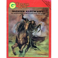 Dragon Lords - Monster Manuscript (bestiaire AD&D/D&D de Grenadier Models en VO) 001