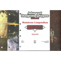 Ravenloft - Monstrous Compendium  Appendix (jdr AD&D 2 en VO)