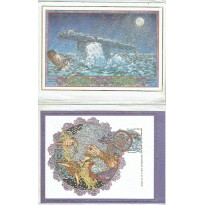 Jim Fitzpatrick - Lot de 2 cartes postales illustrées & enveloppes (Artworks celtique) 001